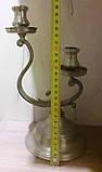 Оловянный канделябр на две свечи, клеймо, винтаж, Франция, фото 2
