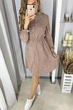 Вельветовое платье 26-433, фото 2