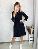 Вельветовое платье 26-433, фото 5