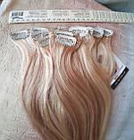 """Волосы натуральные на заколках(клипсах) пшеничный блонд REMY18""""-18/613, фото 5"""