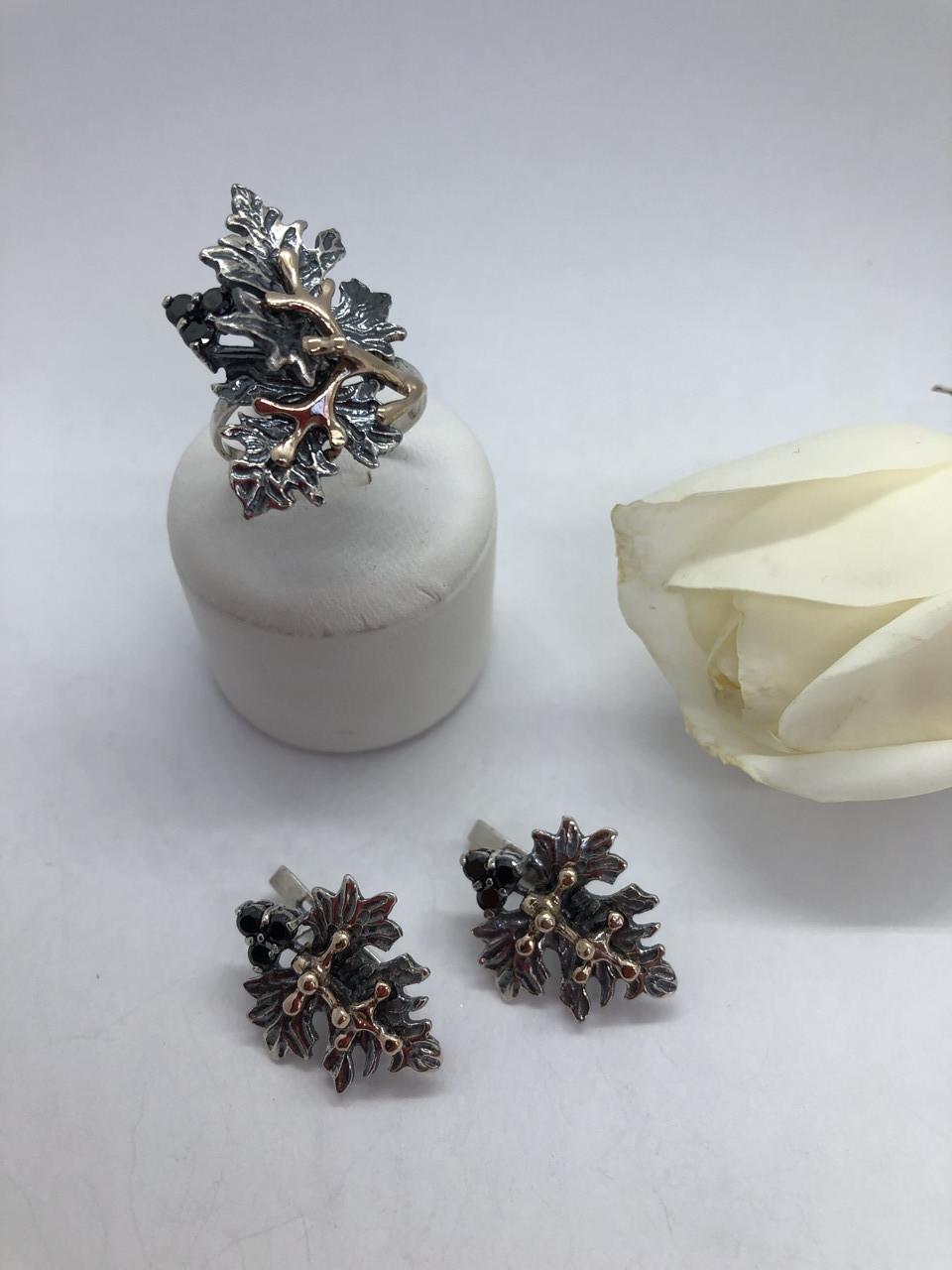 Комплект серебряных украшений Ливистона от Ирида-В