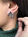 Комплект серебряных украшений Ливистона от Ирида-В, фото 4