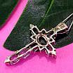 Серебряный крестик с голубым топазом - Женский крестик с топазом серебро, фото 5