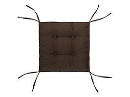 Подушка на стул DOTINEM CAPITONE AQUA коричневая 40х40х6 см (216904-1)
