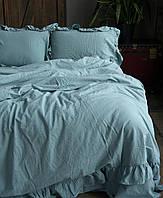 Постельное белье полуторное Limasso варёный хлопок голубой 160х220 LM800223, фото 1