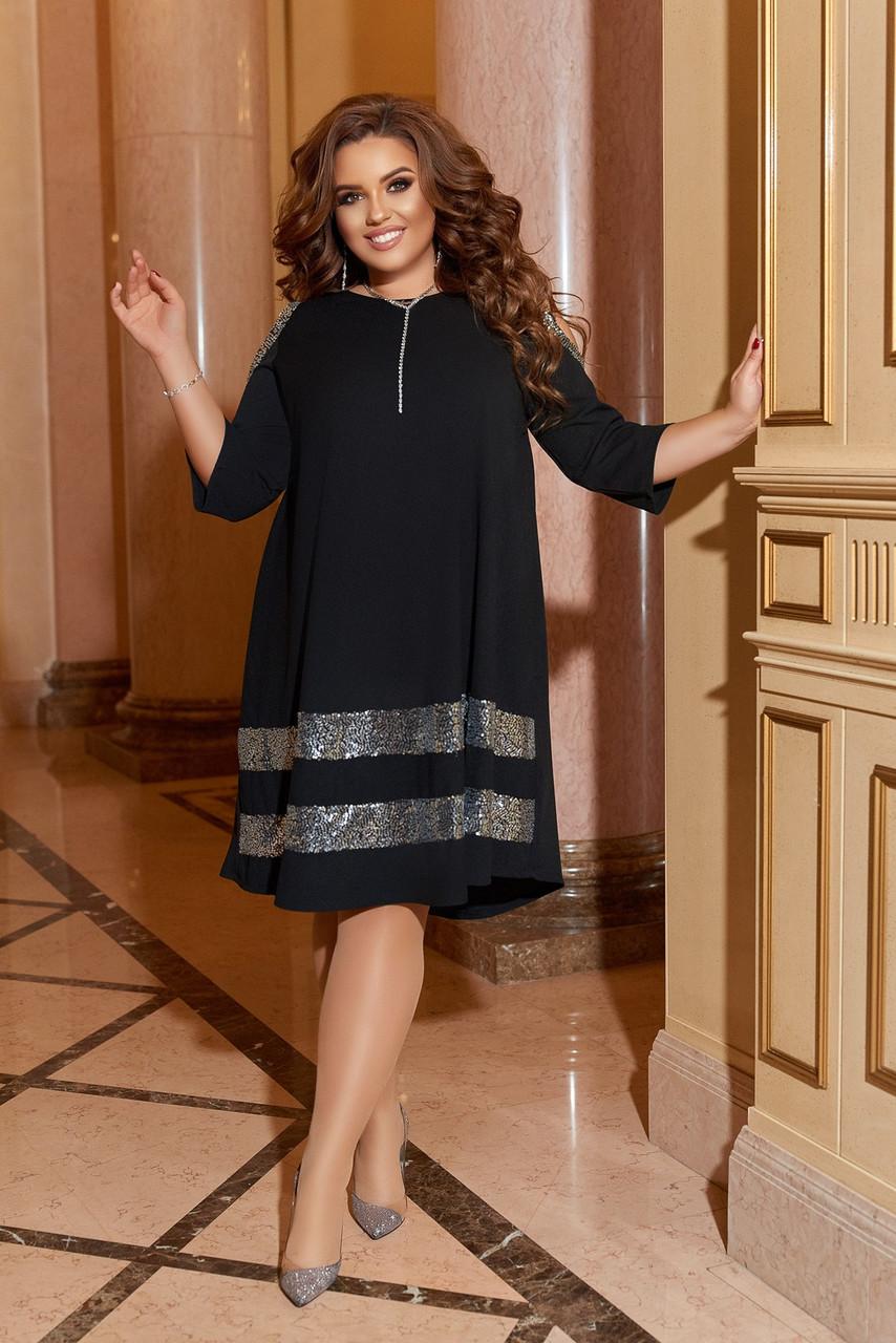Жіноче літнє комбинироанное плаття 50-58р.(4расцв)