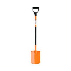 Лопата штыковая прямоуг. 28х19,5 см с металлическим черенком FLO 35809