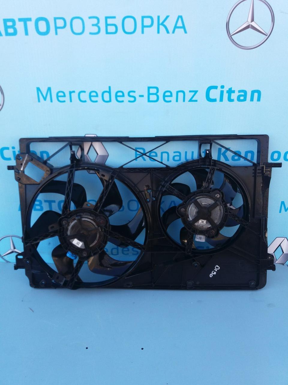 Диффузор 214816680r с вентиляторами для Рено Трафик 3 Renault Trafic 2014-2019 г. в.