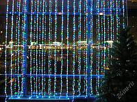 Светодиодная гирлянда штора Проточная вода 360 LED 2 х 1,5 метра