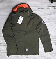Куртка мужская зимняя хаки\котон