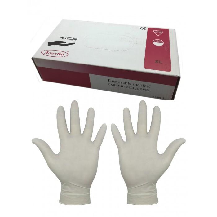 "Перчатки латексные ""Алиско"", размер: XL (9-10), 50 пар./уп"