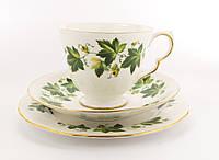 Чайное трио, чашка, блюдце, тарелка, Англия, фарфор, фото 1