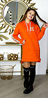 Тёплое Платье - Туника на девочку, 122-128-134-140-146-152-158-164 рост,Украина