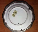 Оловянная настенная тарелка с порцеляной, клеймо, винтаж, Германия, фото 3