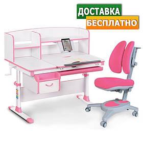 Детские парты столы и стулья регулируемые по высоте Evo-50 New + Onyx Duo