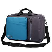 """Рюкзак для ноутбука Socko 17.3"""" Blue-Black (KA-61)"""