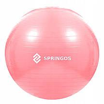М'яч для фітнесу (фітбол) Springos 75 см Anti-Burst FB0012 Pink, фото 3