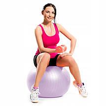 Мяч для фитнеса (фитбол) Springos 65 см Anti-Burst FB0011 Violet, фото 3