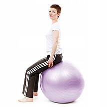 Мяч для фитнеса (фитбол) Springos 65 см Anti-Burst FB0011 Violet, фото 2