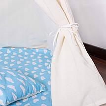 Детская палатка (вигвам) Springos Tipi XXL TIP05 White/Sky Blue, фото 2