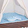 Детская палатка (вигвам) Springos Tipi XXL TIP05 White/Sky Blue, фото 5
