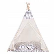 Детская палатка (вигвам) Springos Tipi XXL TIP03 White/Grey, фото 2