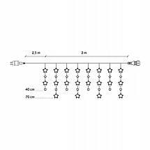 Гирлянда бахрома уличная (наружная) Springos 2 м 92 LED CL4010 Warm White, фото 3