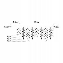 Гирлянда бахрома уличная (наружная) Springos 12 м 300 LED CL301 Warm White, фото 3