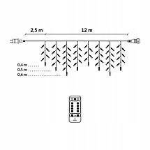 Гирлянда бахрома уличная (наружная) Springos 12 м 300 LED Pilot CL307 Mix, фото 2