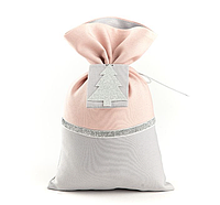Подарочный мешочек серо-пудровый, фото 1