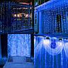 Гирлянда бахрома уличная (наружная) Springos 3 x 3 м 306 LED Pilot CL4002 Blue, фото 5