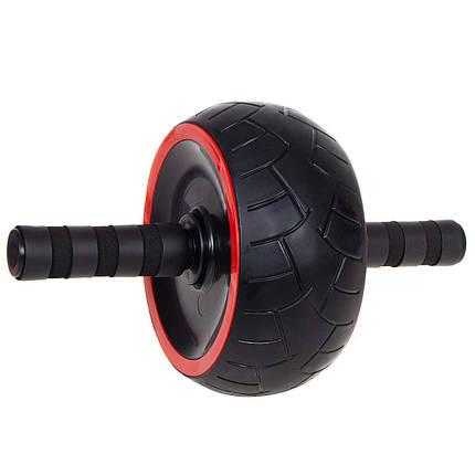 Ролик (колесо) для пресса Springos AB Wheel FA5020 Black/Red, фото 2