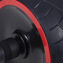 Ролик (колесо) для пресса Springos AB Wheel FA5020 Black/Red, фото 3