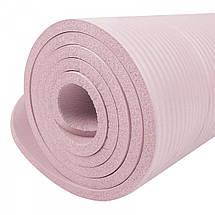 Коврик (мат) для йоги и фитнеса Springos NBR 1.5 см YG0040 Pink, фото 3