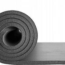 Коврик (мат) для йоги и фитнеса Springos NBR 1.5 см YG0001 Grey, фото 3