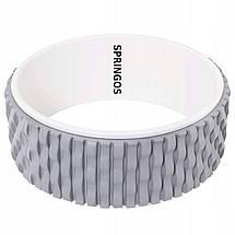 Колесо для йоги и фитнеса Springos Dharma FA0205 Grey/White, фото 2