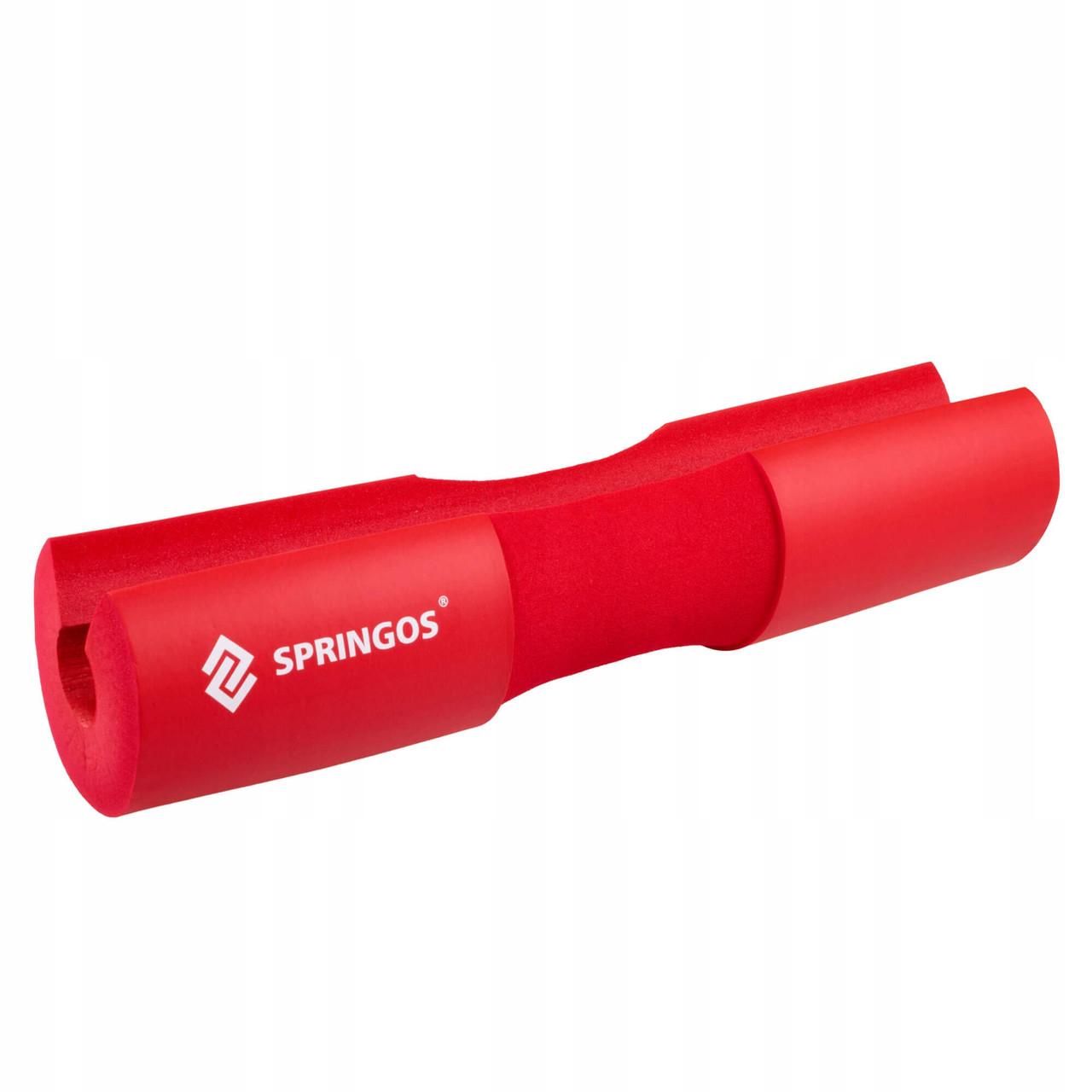 Накладка (бампер) на гриф Springos Barbell Pad FA0206 Red
