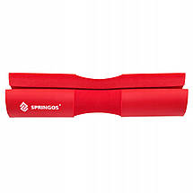 Накладка (бампер) на гриф Springos Barbell Pad FA0206 Red, фото 3