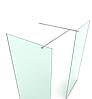 Повний комплект фурнітури для скляної перегородки SD-01-01-02, полірована фурнітура, фото 2