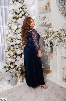 Длинное вечернее платье в большом размере Украина Размеры: 48-50, 52-54, 56-58, фото 2