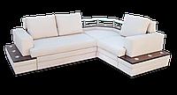 Угловой  белый диван  Фараон фабрики Нота с полкой, фото 1