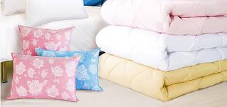 Домашній текстиль: ковдри, подушки, матраци ватяні
