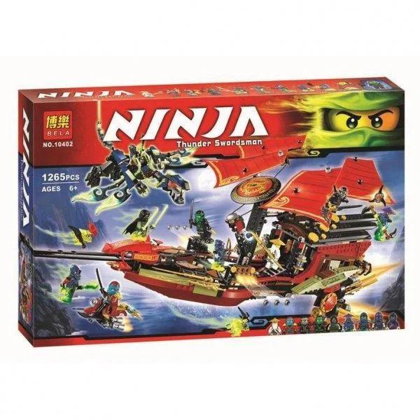 Конструктор Bela Ninja Летающий корабль Дар Судьбы Решающая битва