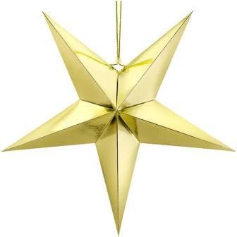 "Паперова 3D зірка ""Gold"" (37см.)"