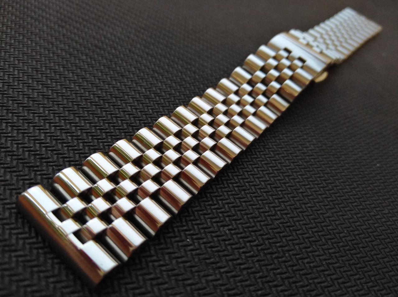 Браслет для часов из нержавеющей стали 316L, литой, глянец. 21 мм