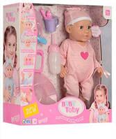 Кукла-пупс интерактивная, говорящая, розовый костюмчик, соска, бутыл, горшок, 30801-30801-5 Baby Toby, фото 1