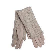 Перчатки женские сенсорные бежевые М 7,5