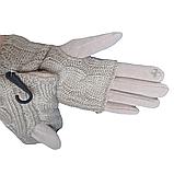 Перчатки женские сенсорные бежевые М 7,5, фото 4