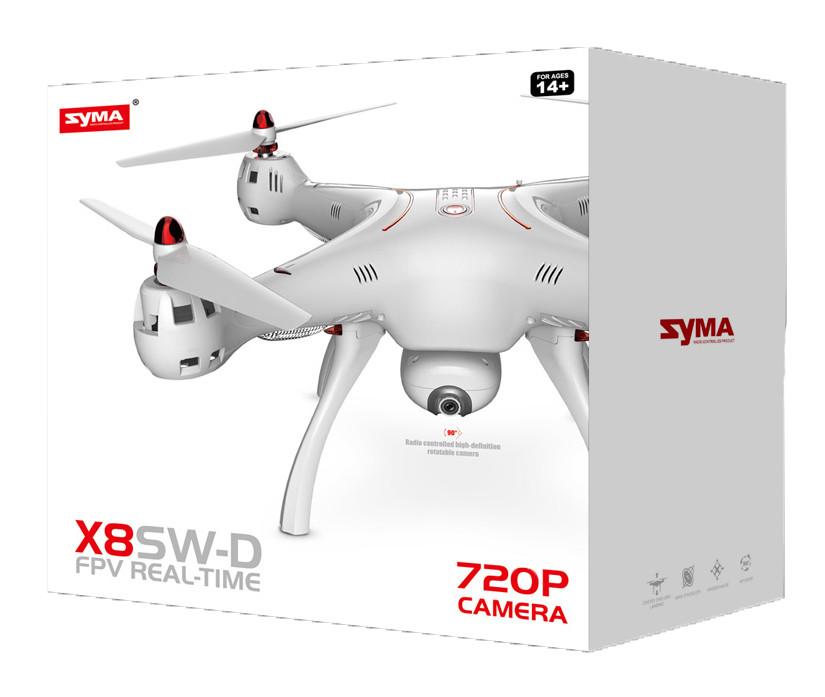 Квадрокоптер с 2,4 Ггц управлением и поворотной FPV-камерой (50 cм) Syma AKT-X8SW-D