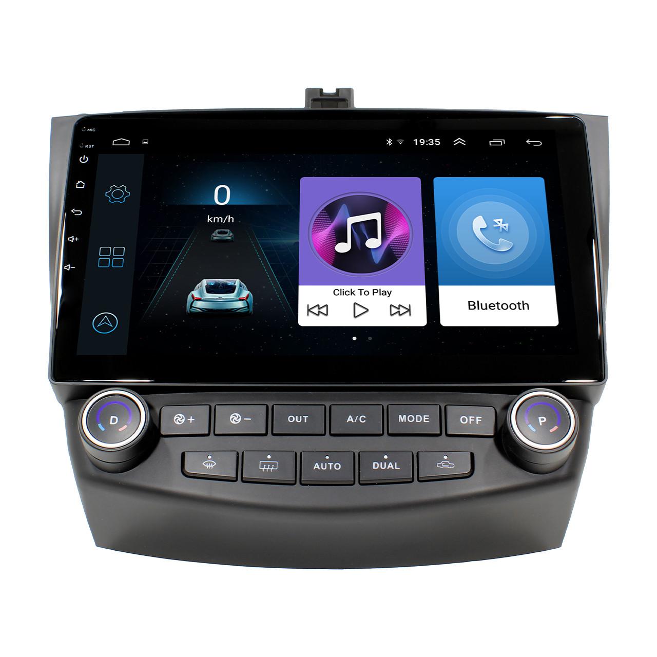 """Штатна автомобільна магнітола 10.1"""" Honda Accord (2004-2007 р.) Wi Fi GPS клімат контроль Android 8.1 Go"""